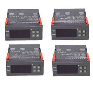 4pcs 10a 110v Digital Temperature Controller 58 194 Thermostat W Test Sensor
