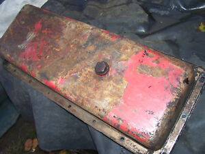 Original Massey Harris 555 Diesel Tractor Engine Oil Pan 1957