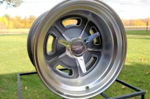 15x10 Gasser Mach Grey Ford Mopar Vn502 American Racing 5x4 5 Bp Grey Hotrod
