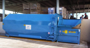 Nedland Indutries Nc 200 Stationary Waste Compactor W 40yard Container Receiver