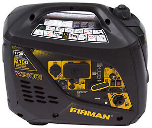 Firman Power Equipment W01781 1700 2100 Watt Portable Gas Inverter