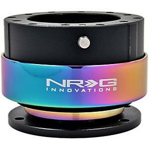 Nrg Gen 2 0 Steering Wheel Quick Release Hub Black Body Neo Chrome Ring