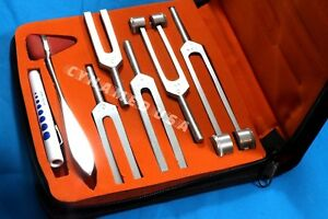 7 Tuning Fork Set Medical Surgical Chiropractic Physical Diagnostic Instruments