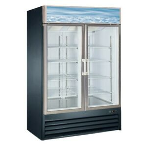 2 Door Upright Display Freezer 29 Cu Ft D768bmf