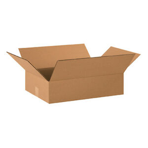 50 20x16x4 Cardboard Shipping Boxes Flat Corrugated Cartons