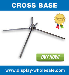 30 Pcs Of Cross Base Stand For Feather Teardrop Flag Pole Free Spin X Mount