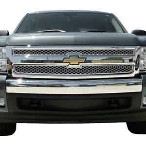 For Chevy Silverado 3500 Hd 2007 2009 Saa 2 pc Chrome Billet Main Grille
