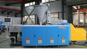 2017 Zuick Conical Twin Screw Extruder Zk85 For Wpc wood Plastic Compounds