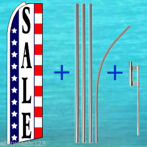 Sale Usa Flutter Flag Pole Mount Kit Tall Curved Feather Swooper Banner Sign