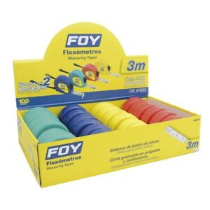 Flex metros De 3m Varios Color 1 2 En Display 24 Pzs Floy