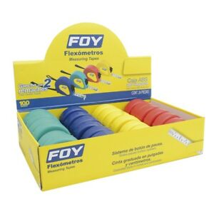 Display 12 Flex metros De 5m Varios Colores 3 4 In Foy
