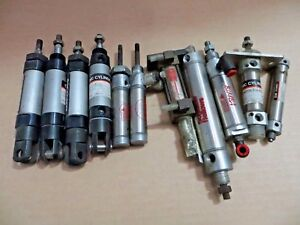 Lot Of 11 Pneumatic Air Cylinder