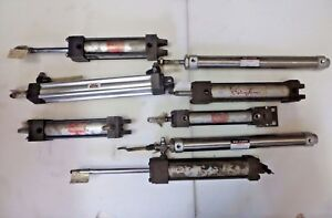 Lot Of Pneumatic Air Cylinder Smc Schrader bellows Mosier And More