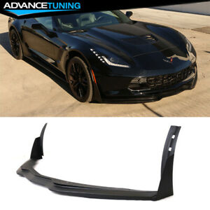 Fits 14 19 Chevrolet Corvette C7 Stingray Stage 3 Front Bumper Lip Pu Unpainted