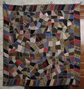 Crazy Quilt Dated 1905