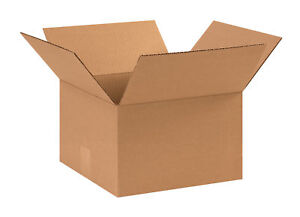 25 11x11x6 Cardboard Shipping Boxes Flat Corrugated Cartons