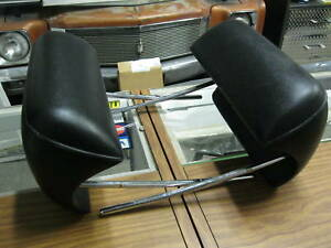 1969 1970 Impala New Pair Of Black Bucket Seat Headrest