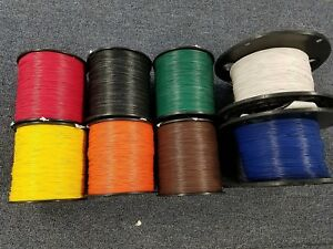 22 Awg Gauge Stranded Hook Up Wire Kit 100 Ft Ea Reels 8 Color Ul1007 300 Volt