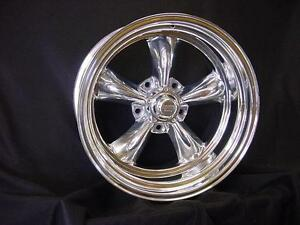 1 15x15 American Racing Polished Torq Thrust 2 Wheel Ford Chevy Custom Bilt