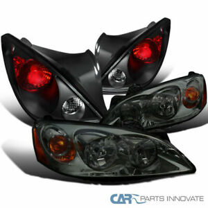 Pontiac 06 09 G6 2dr Smoke Lens Tinted Headlights Black Tail Lights Brake Lamps
