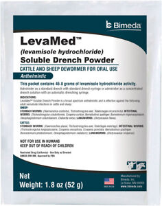 Levamed Levamisole Soluble Drench Powder Wormer Cattle Sheep Made In The Usa