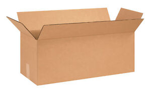 50 26x10x10 Cardboard Shipping Boxes Long Corrugated Cartons