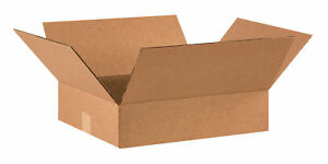50 16x14x4 Cardboard Shipping Boxes Flat Corrugated Cartons