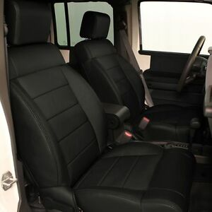 Katzkin Black Repl Leather Interior Seat Cover Fits 2011 2012 Jeep Wrangler 2dr