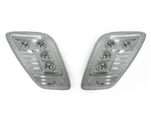 Depo Fender White Led Clear Side Marker Lights For 1997 2006 Jeep Wrangler Tj