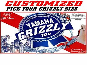 Yamaha Grizzly ATV Tank Beer Decal Pabst sticker 450 550 550 660 700