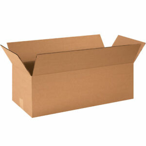 50 24x10x8 Cardboard Shipping Boxes Long Corrugated Cartons