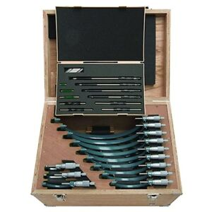 Mitutoyo 103 905 10 Outside Micrometer Set 0 12 Includes 12 Micrometers