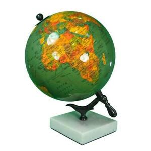Globe With Marble Base 11 H Vintage Globe Globe With Metal Stand Maps