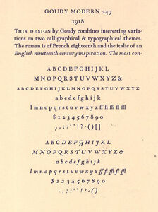 New Letterpress Type 12pt Goudy Modern Italic Complete Font