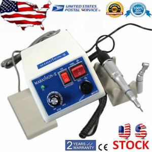 Dental Lab Marathon Electric 35k Rpm Micro Motor contra Angle Straight Handpiece