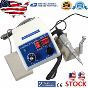 Dental Lab Marathon Micro Motor 35k Rpm Plisher Machine low Speed Handpiece Us