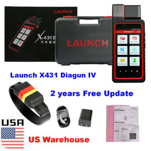 Usa Ship Launch X431 Diagun Iv Tablet Obd2 Diagnostic Tool 2 Year Free Update