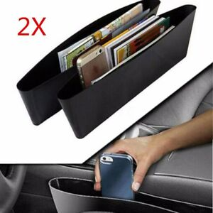 2 Pack Catch Caddy Car Seat Console Gap Filler Side Pocket Organizer Storage Bag