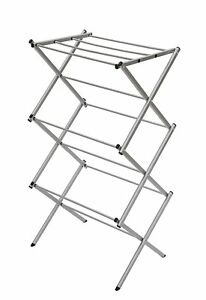 Storagemaniac 3 tier Folding Water resistant Compact Steel Clothes Drying Rack