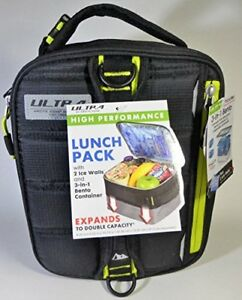 Expandable Lunch Pack Ultra Arctic Zone Bento Containers 2 Ice Packs Black