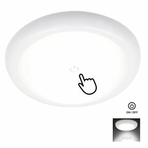 Facon 4 5 Rv Led Interior Ceiling Dome Light 12v W Lens Touch Switch Camper