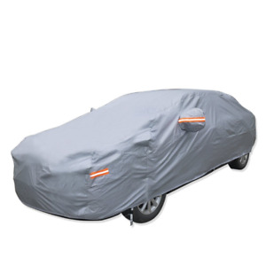 Ledkingdomus Breathable Universal Fit Car Cover All Weather Outdoor Indoor Full