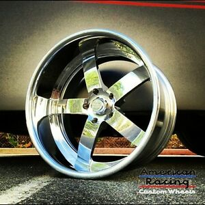 20x10 american Racing Forged Vf 495 Polished Wheel Chevy Ford Dodge Mopar Gm