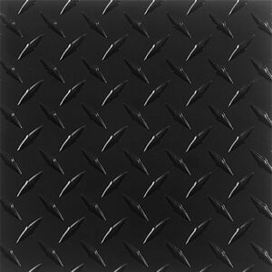063 Matte Black Powdercoated Aluminum Diamond Plate Sheet 6 X 48 Qty 3