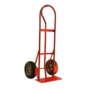 Hand Truck 800 Lb Capacity Heavy Duty All Purpose P Handle Pneumatic Tire Wheels