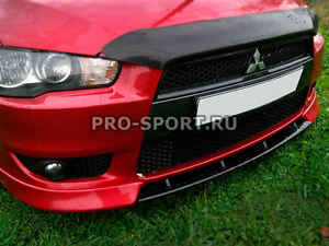 Mitsubishi Lancer X 2007 2016 Front Bumper Central Lip Spoiler Abs