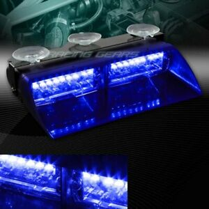 16 Blue Led Car Truck Emergency Hazard Warning Interior Roof Flash Strobe Light