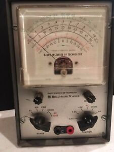 Bell Howell Volt Ohm Meter Transistorized Works Great 46