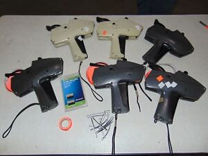 6 Monarch 1115 Pricing Guns Price Gun With Spare Ink Rollers And Number Bands