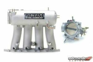 Skunk2 Intake Manifold Silver throttle Body Alpha 70mm D series Honda Civic
